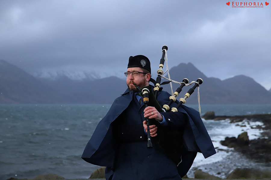 Isle of Skye Wedding Musician Piper Photographer Photo