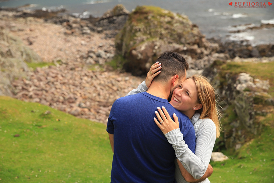 Dunscaith Castle Wedding Photographer Proposal Engagement Engaged Isle of Skye Elopement Photo