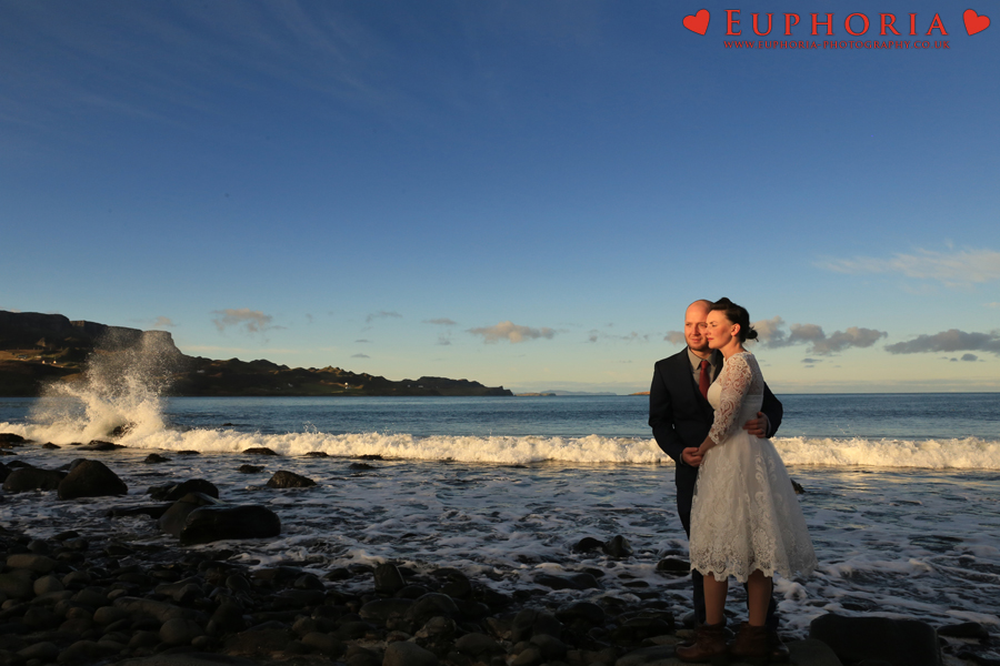 Staffin Bay Wedding Photo
